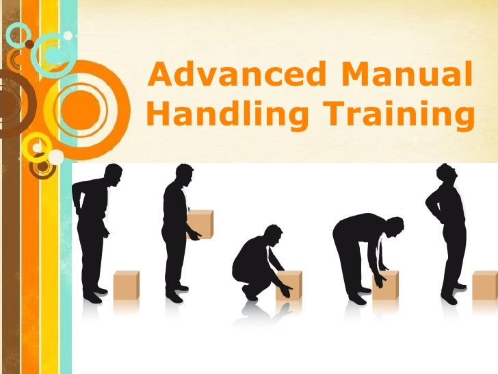 Advanced ManualHandling Training  Free Powerpoint Templates                              Page 1