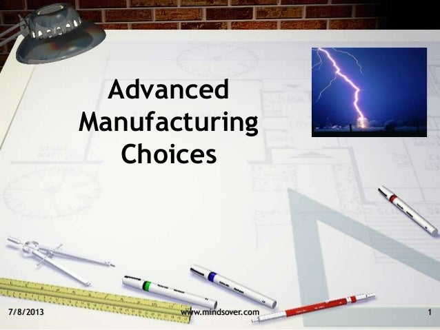 7/8/2013 Advanced Manufacturing Choices 1www.mindsover.com