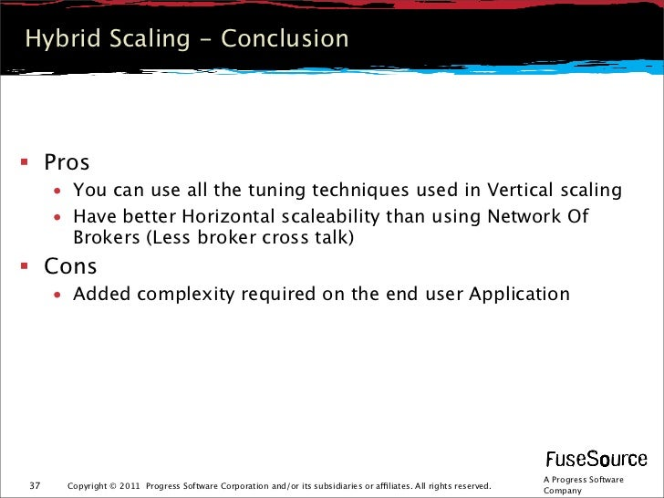 Hybrid Scaling - Conclusion Pros     • You can use all the tuning techniques used in Vertical scaling     • Have better H...