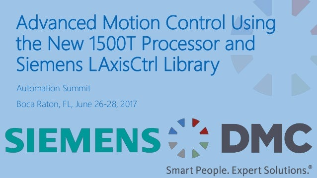 Advanced Motion Control: Using the New 1500TF Processor and