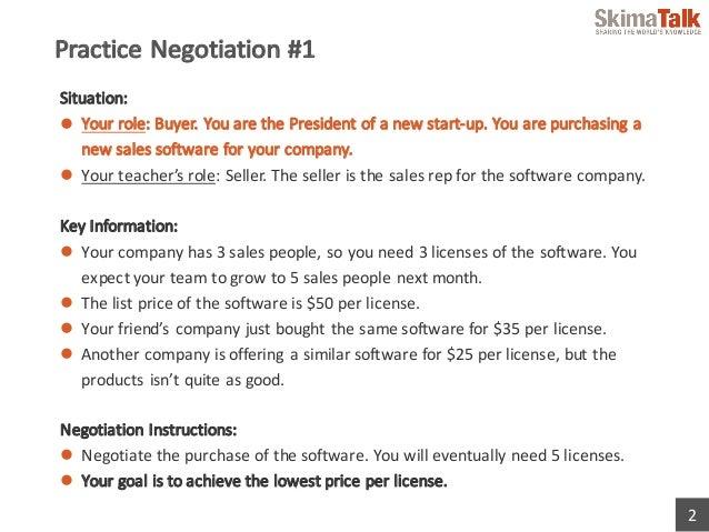 Effective Method of Negotiation