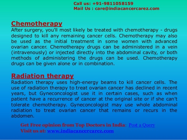 Advanced Ovarian Cancer Treatment In India Best Cancer
