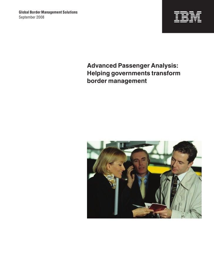 Advanced Passenger Analysis: Helping Governments Transform Border Control
