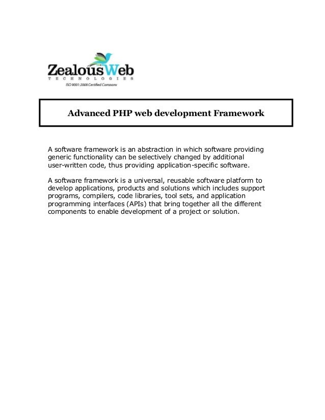 A software framework is an abstraction in which software providing generic functionality can be selectively changed by add...