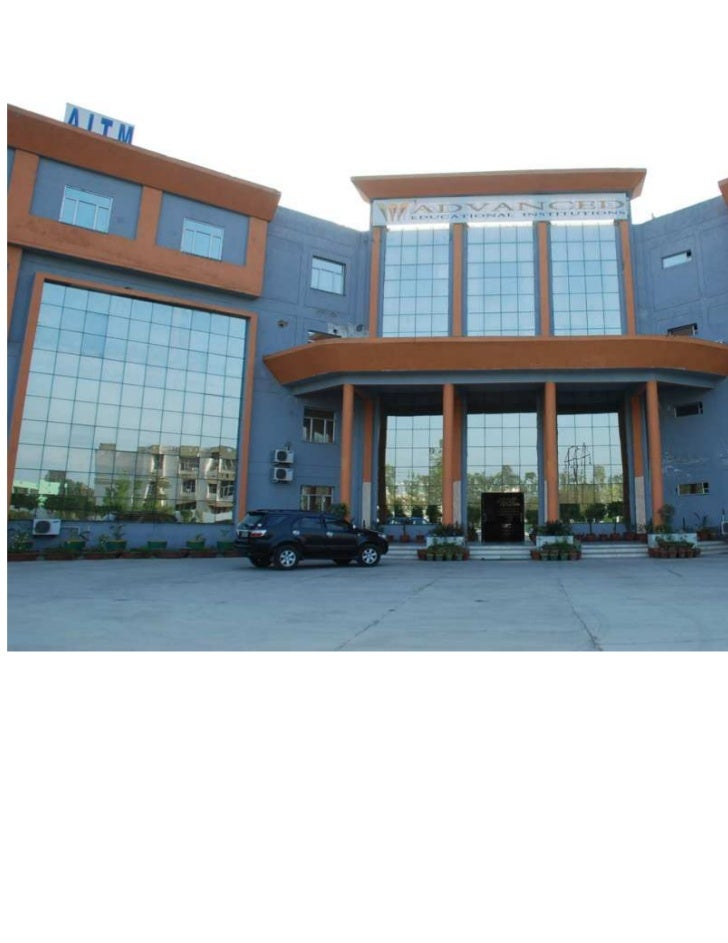 Advanced Institute of Technology & Management