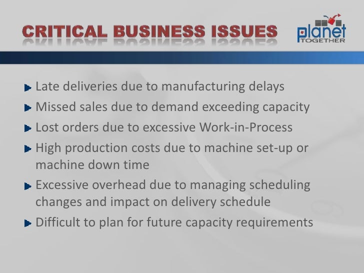 Advanced Planning And Scheduling Aps Overview Slide 3
