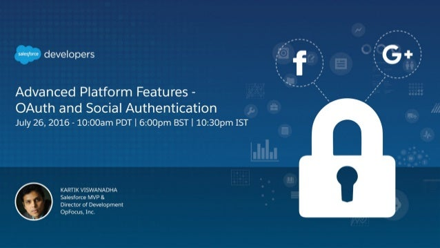 OAuth & Social Authentication July 26th 2016