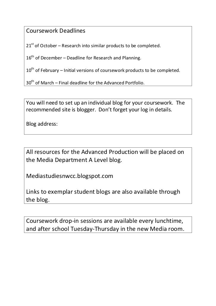 a2 media studies coursework blog