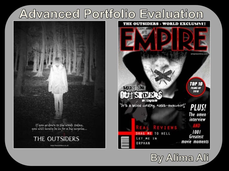 Advanced Portfolio Evaluation<br />By Alima Ali<br />