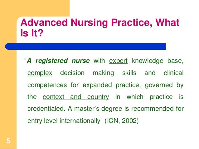 advance practice nursing essay Advance practice nursing 1479 words | 6 pages followed by professional roles, where they have to educate other health care worker by teaching and mentoring them, as.