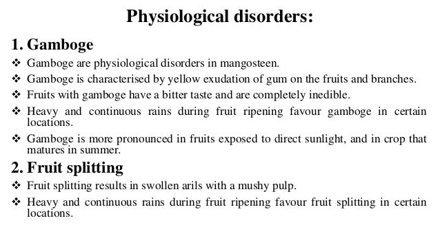 Advanced production technology of mangosteen