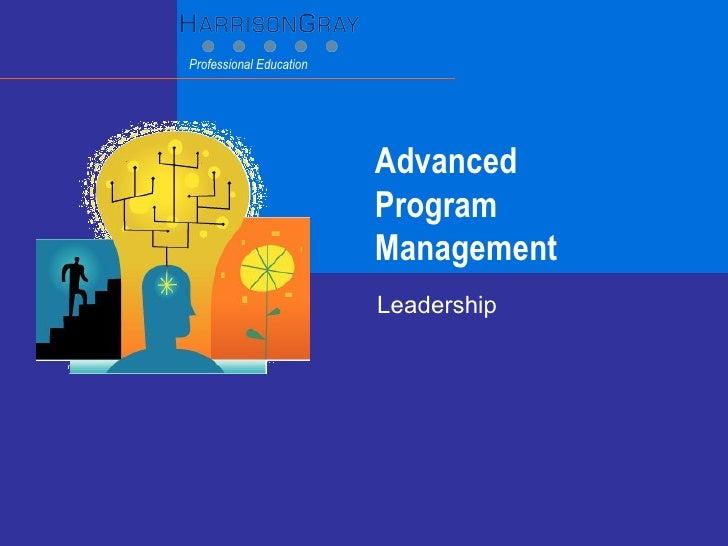 Advanced  Program Management Leadership