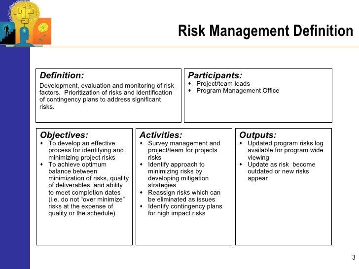Advanced program management risk mitigation and management