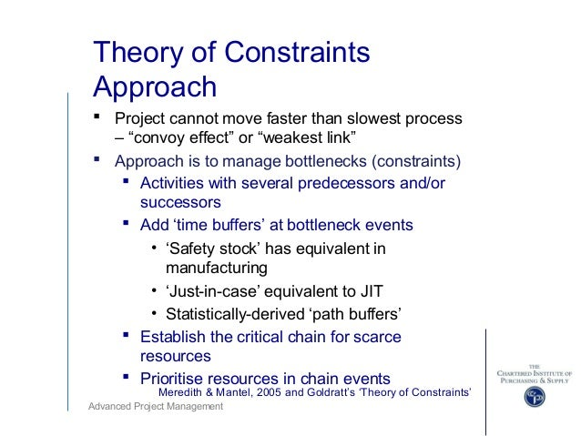 Theory of Constraints And Project Management