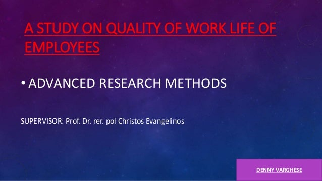 study on quality of worklife Quality of work life is a concept which talks about the overall focus on employee as a person rather than just the work done by him/her quality of work life is.