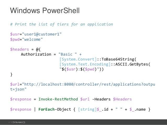 Advanced REST API Scripting With AppDynamics