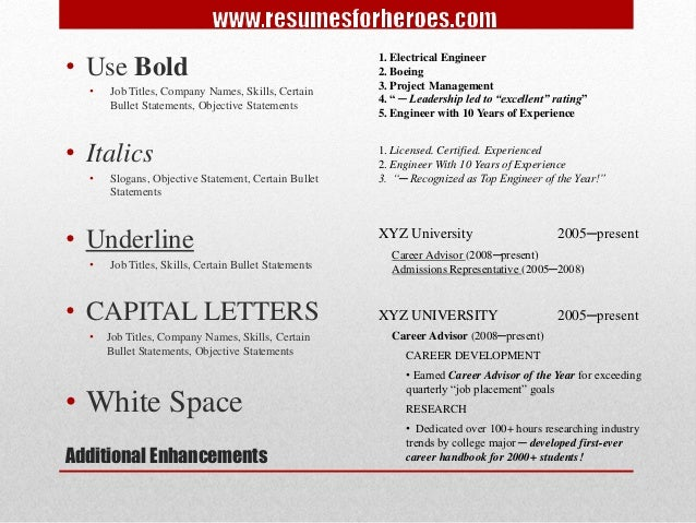 advanced resume writing strategies