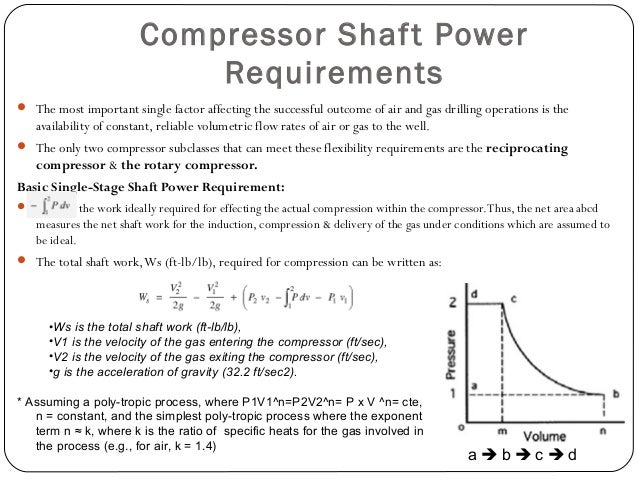 Prime Mover Input Power Requirements  In order to obtain the complete picture of compressors, it is necessary to ascertai...