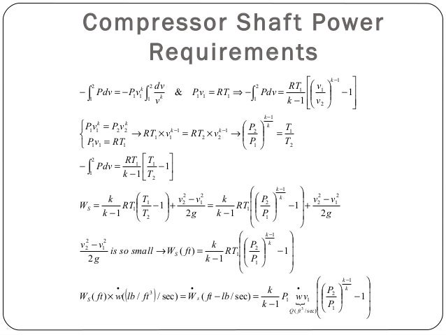 Prime Mover Input Power Requirements  Primary Compressor System Unit: • Primary compressor system units take air directly...