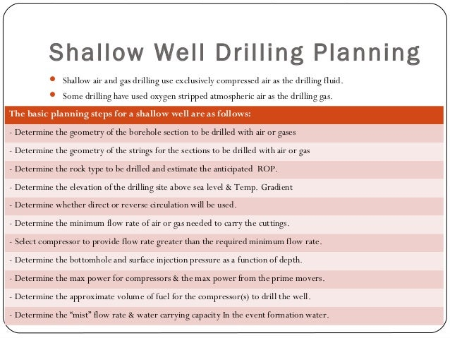 """Illustrative Example Minimum flow rate of air at standard conditions for 2 3/8"""" drill pipe and 4 ½"""" open borehole. Minimum..."""