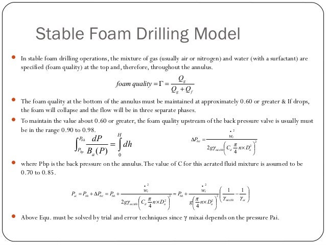 Air, Gas, and Unstable Foam Drilling  The basic planning steps for a deep well are as follows: