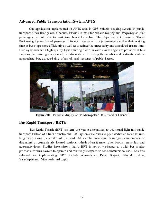 Advanced Road Transporlation System Report