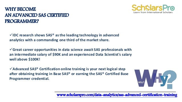Advanced sas certification