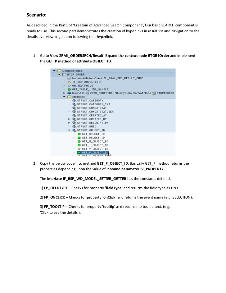 SAP CRM OneOrder Advanced Search WebUI Component - part2