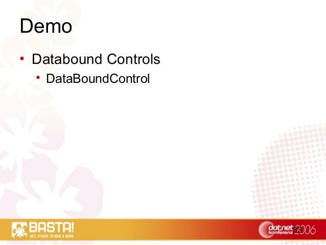 33 Demo • Databound Controls • DataBoundControl
