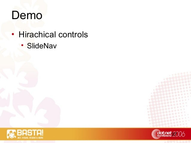 37 Demo • Hirachical controls • SlideNav