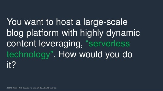 Advanced serverless application architecture and design considerations Slide 3