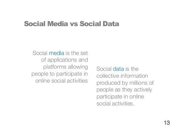 Social Media vs Social Data                              14
