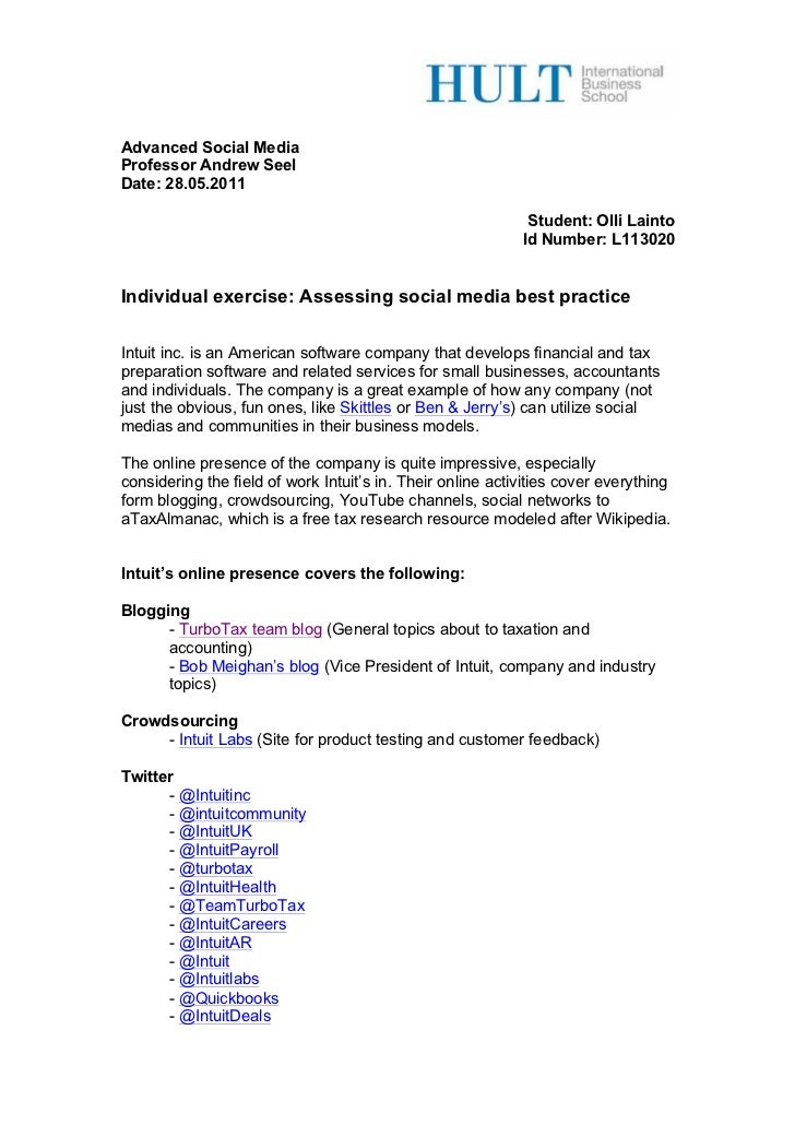 Advanced Social MediaProfessor Andrew SeelDate: 28.05.2011                                                             St...