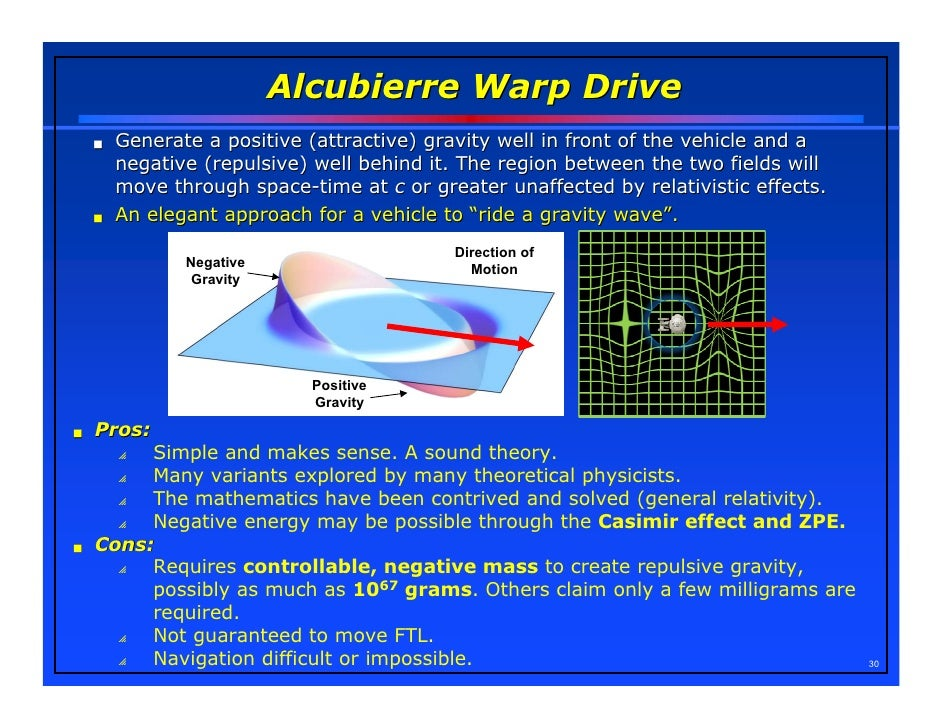 stem faster than light travel possible alcubierre warp drive wormholes