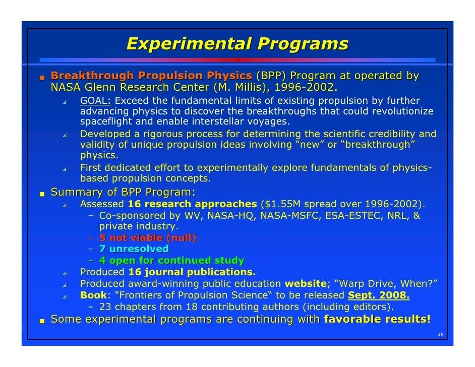 nasa breakthrough propulsion physics program - photo #24
