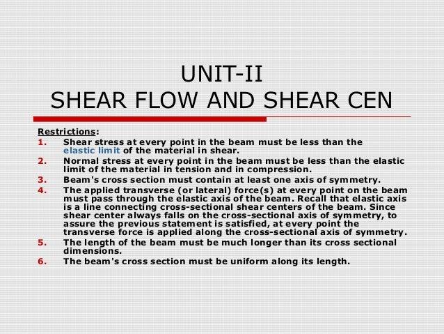 Shear flow center example