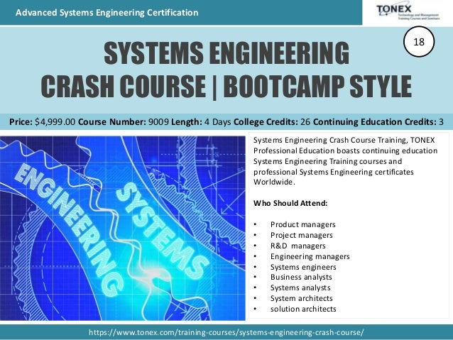 Advanced Systems Engineering Certification - Total 21 Courses