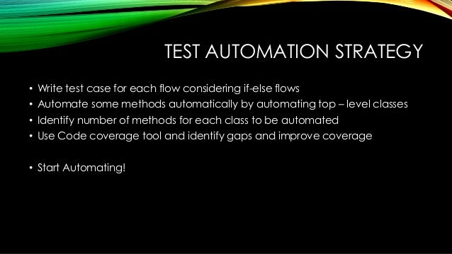 Advanced software test automation for Test automation strategy document template