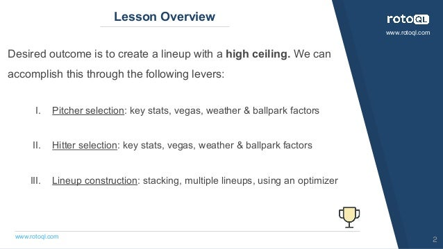 MLB: Advanced Tournament Strategy