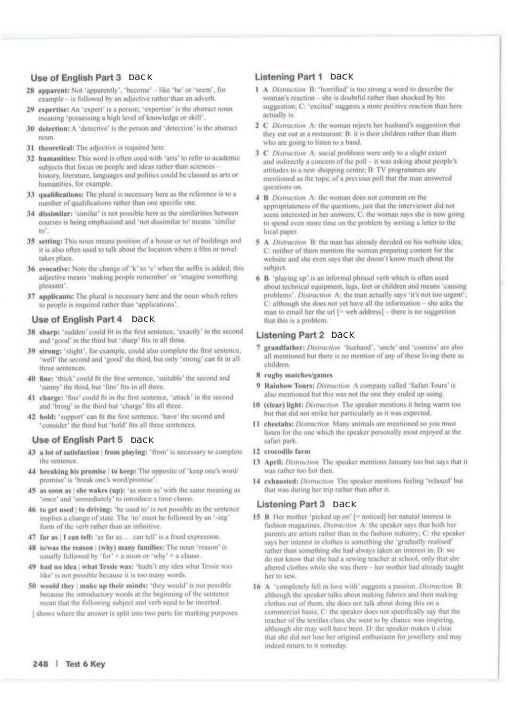 Advanced trainer 6 practice tests with answers book4joy (1) page 249