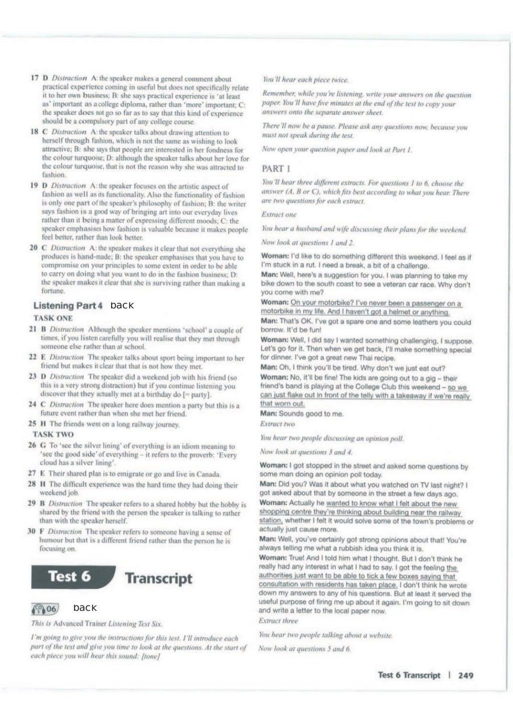 Advanced trainer 6 practice tests with answers book4joy (1) page 250