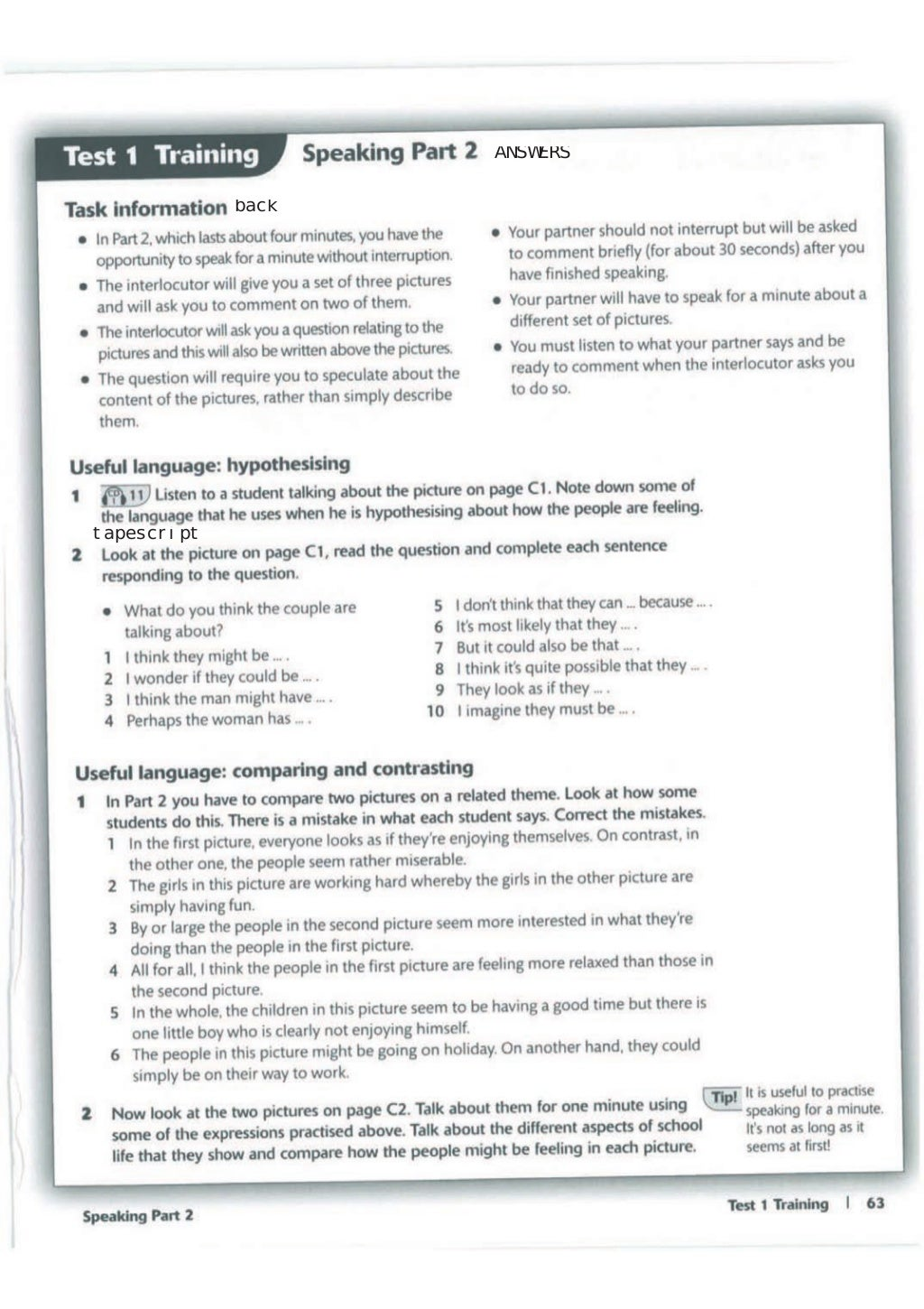 Advanced trainer 6 practice tests with answers book4joy (1) page 64