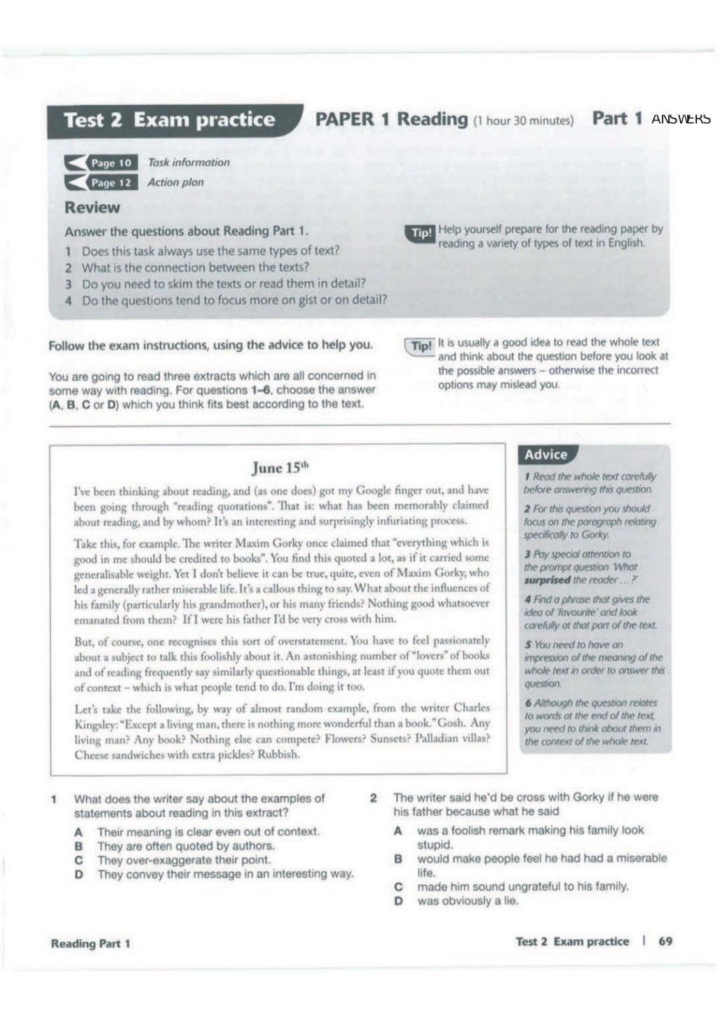 Advanced trainer 6 practice tests with answers book4joy (1) page 70