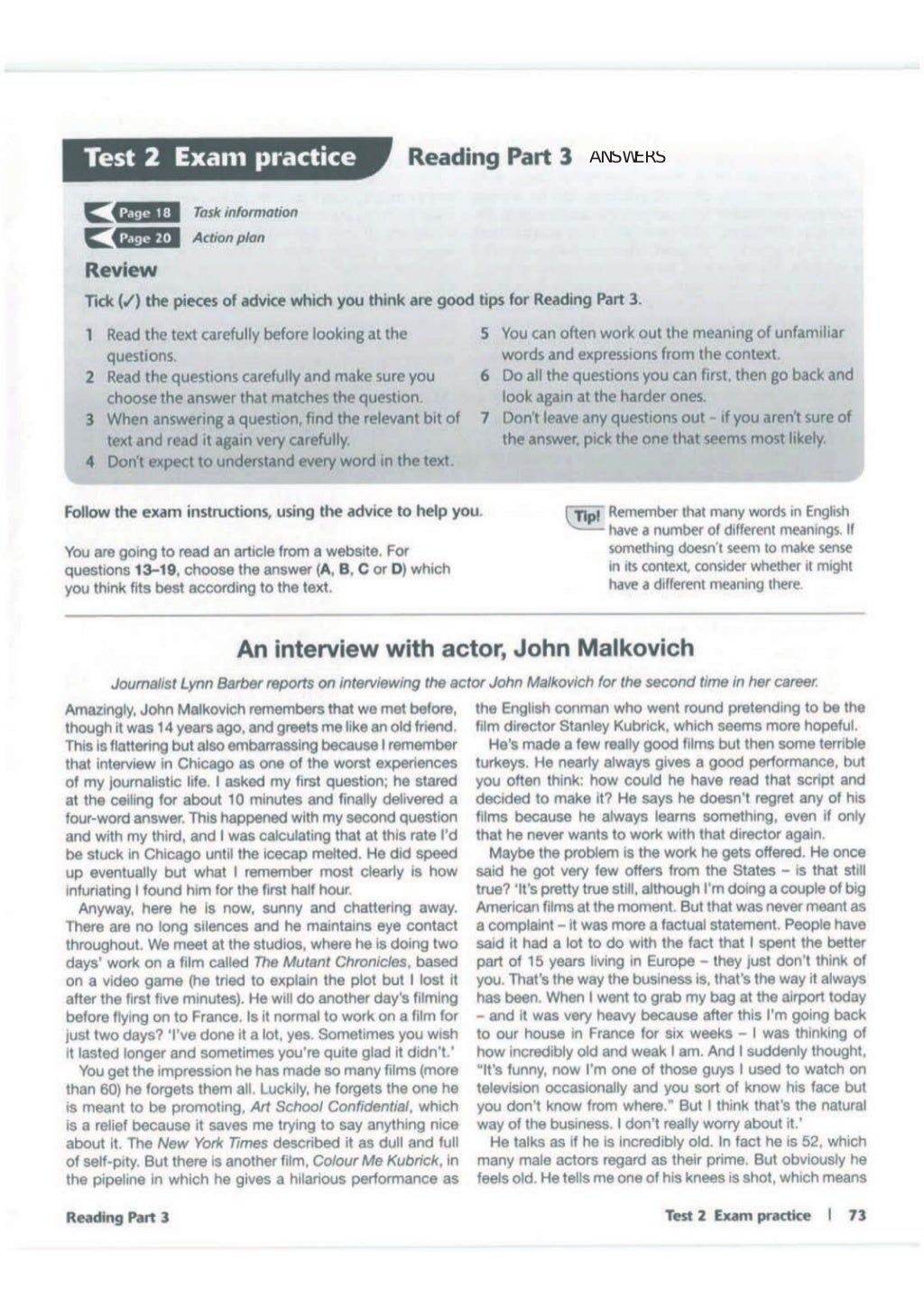 Advanced trainer 6 practice tests with answers book4joy (1) page 74