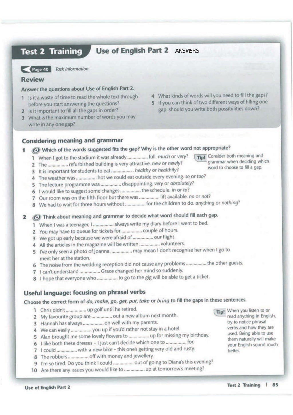 Advanced trainer 6 practice tests with answers book4joy (1) page 86