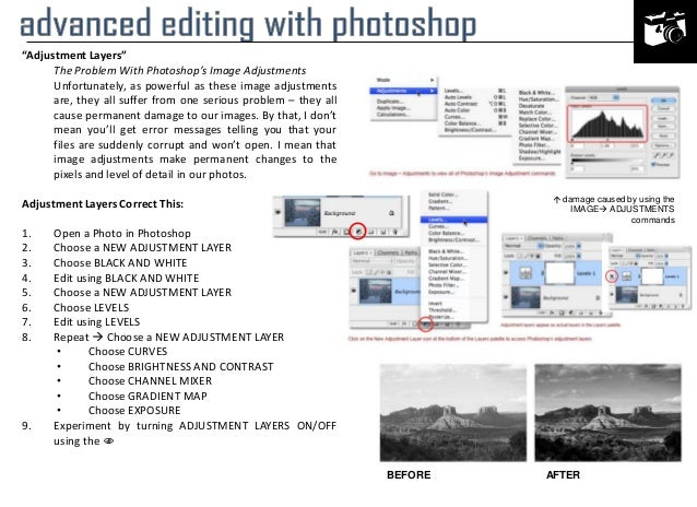 """Adjustment Layers"" The Problem With Photoshop's Image Adjustments Unfortunately, as powerful as these image adjustments a..."