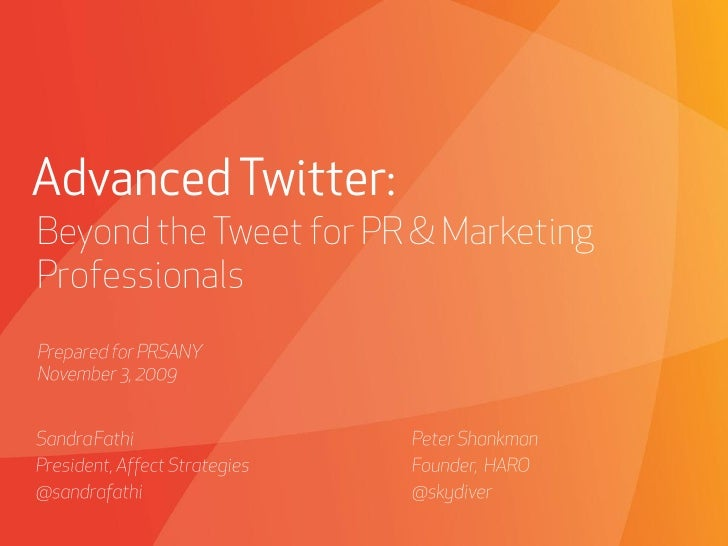Advanced Twitter Marketing Strategies