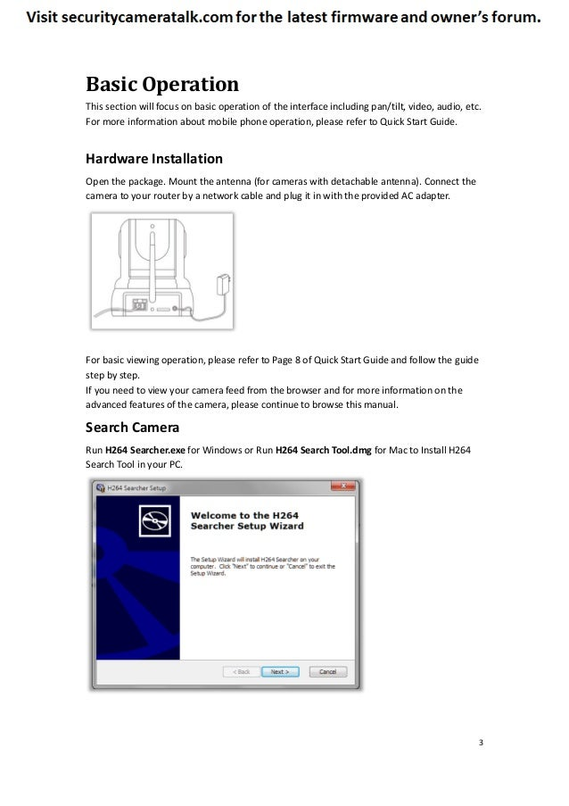 tenvis iprobot3 manual