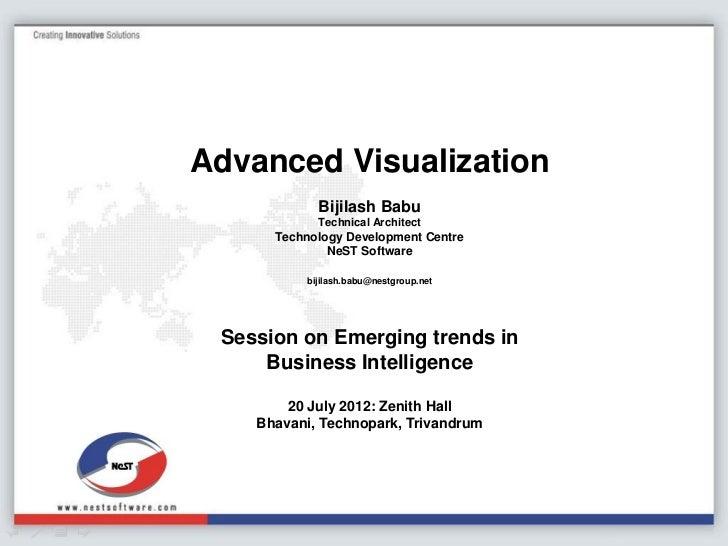 Advanced Visualization            Bijilash Babu            Technical Architect      Technology Development Centre         ...