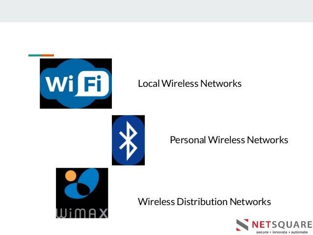 Local Wireless Networks Personal Wireless Networks Wireless Distribution Networks